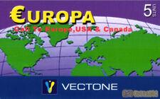 3456 SCHEDA TELEFONICA INTERNAZIONALE USATA EUROPA VECTONE 5 08/2005