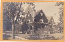 Childs Real Photo Postcard RPPC - Adelphic Hall Olivet College Olivet Michigan