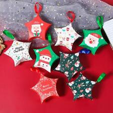 NEW Christmas Star Tree Decoration Party Paper Favour Candy Gift Boxes