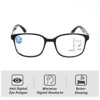Multi Focus Progressive Reading Glasses Anti Blue Light Lens Women Men Glasses