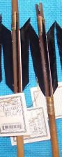 2 TWO Navajo 26 inch Arrows w/Matching Black feathers & Stone chipped Arrowheads