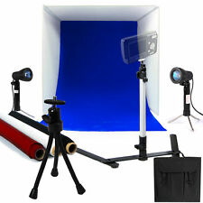 """New 100w Photo Studio 16"""" Photography Lighting Tent Kit Backdrop Cube In A Box"""