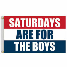 Hot Saturdays Are For The Boys Flag 3x5 Feet Banner Red White Blue Flags