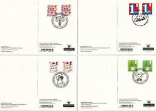2015 SMILERS REAR FDI PHQ CARDS SET OF 10 VARIOUS SPL RELATED HANDSTAMPS No D34