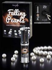 Falling Pearls, lubricante silicona y collar de perlas especial masaje erótico