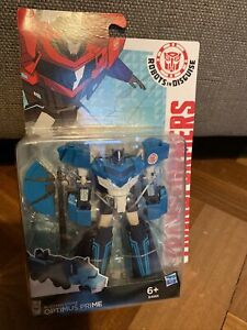 Transformers Robots in Disguise Warriors Class Blizzard Strike Optimus Prime
