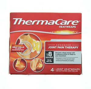 ThermaCare Heatwraps Joint Pain Therapy Advanced 8-hr Relief Single Use 4-pk