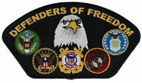 Defenders Of Our Freedom 5 Inch Embroidered Hat Patch F2D5B