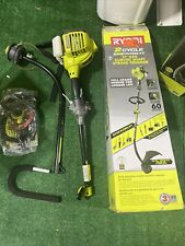 """Ryobi 2-Cycle Gas 25cc 17"""" Curved Shaft String Trimmer Weed Wacker Expand-it"""