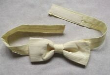 Vintage Bow Tie MENS Bowtie Adjustable Dickie SHIMMERY PALE LEMON YELLOW