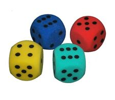 4x Giant Red Dice - 7cm, 7x17x7, In Red, Blue, Yellow and Green