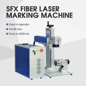 80W MOPA JPT M7 Fiber Laser Marking Machine Engraver 100mm Rotary 175x175mm Lens