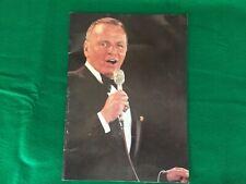 """1978 Frank Sinatra Original live concert tour program """"Man of the Hour�"""
