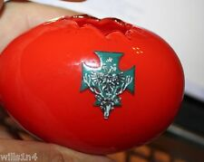 German WWII Blood honor hatched glass egg w/ hunt club & Russian eagle on shield