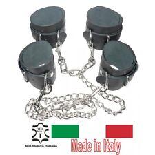 manette con manette in pelle catena in acciaio bondage sexy set kit restriant cr
