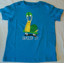 Okie Dokie Boys Tee Shirt 24 Months  Snailed It Blue New W Tags Short Sleeve