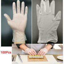 100x Multi-use Disposable PVC Antibacterial Gloves Beauty Care Kitchen Protect