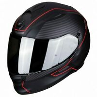 CASQUE MOTO SCORPION EXO-510 AIR FRAME NOIR MAT ROUGE M