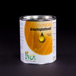 LIVOS KUNOS Arbeitsplattenöl 243, 250 ml = 60,00 €/Liter; 750 ml = 42,67 €/Liter