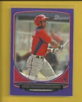 Michael Taylor RC 2013 Bowman Prospects PURPLE Rookie Card # BP47 Nationals MLB