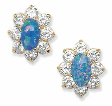 Orecchini di lusso blu zircone