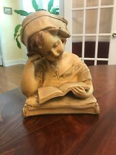 ANTIQUE ART SCULPTURE SIGNED G VAN VAERENBERGH NURSE BUST STATUE