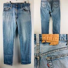 Vintage Levis 505 Jeans Men 36x32 USA XX Blue Denim Pants Red Tab 505 0217