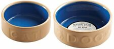 Mason Cash Cane Pet Bowl Dog Bowls & Cat Water Bowls Cane and Blue Small - Large