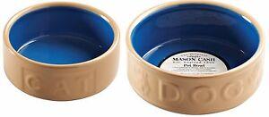 Mason Cash Cane Pet Bowl Dog Bowls & Cat Water Bowls Cane and Blue Small - Large
