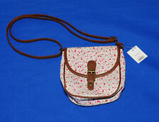 ~BNWT~GEORGE WHITE & PINK FLOWER PATTERN BAG WITH ADJUSTABLE STRAP~