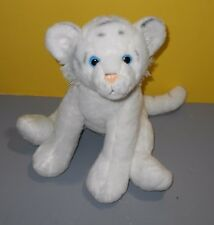 "Fiesta Lazybeans 14"" Sitting White Tiger Soft Bean Bottom Stuffed Plush Animal"