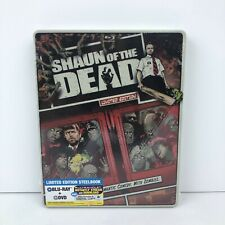 Shaun Of The Dead (Blu-ray/DVD, 2013, 2-Disc Set) Limited Edition Steelbook New