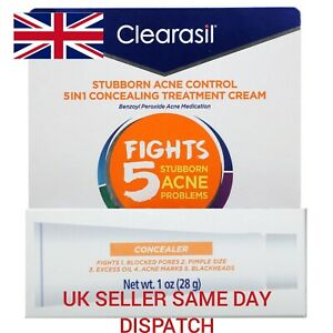 Clearasil 5in1 Concealing Treatment Concealer Benzoyl Peroxide 10% 28g 1oz