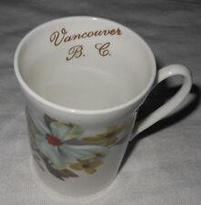 Crown Prince Bone China England 1835 Vancouver B.C. Floral Dogwood Mug Gold Trim
