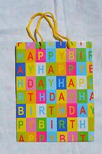 10 Stück Geschenktüten Geschenktasche Tasche HAPPY BIRTHDAY Tüte 23,2x17,7x8 cm