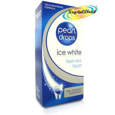 Pearl DROPS BIANCO GHIACCIO MENTA FRESCA Boost Sbiancamento toothpolish Dentifricio 50ml