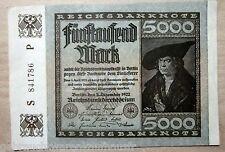 Fünftausend Mark Banknote vom 2.Dezember 1922 Serien Nr.S841786 guter Zustand