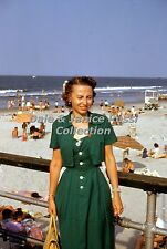 M141 35mm Slide 1953 Atlantic City Mr & Mrs Miller, Quality SupremeTransparency