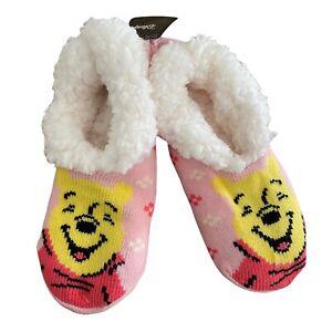 Winnie The Pooh Womens Slipper Socks Shoe Size 4-10 NEW