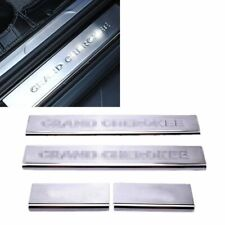Car Door Sill Scuff Plate Guard Sill cover for Jeep Grand Cherokee 2011-2018