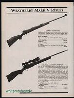 2000 WEATHERBY Mark V Euromark and Accurmark Magnum Rifle AD