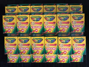 Crayola Crayons Assorted 24 Count New Lot of 30 Packs Free Shipping
