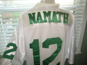 NFL NEW YORK JETS HALL OF FAME QB BROADWAY JOE NAMATH #12 STITCHED JERSEY sz 58