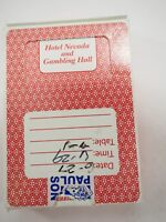 Hotel Nevada and Gambling Hall Ely Nevada Playing Cards Red Deck table Played