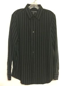Old Navy Cotton Men's Striped Long Sleeve Dress Shirt Size M