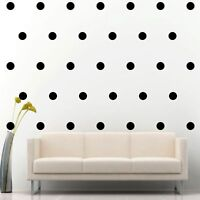 "200 of 2"" Black Polka Dots Circle Peel Stick Removable Wall Vinyl Decal Sticker"