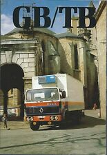 Truck Brochure - Renault - GB/TB - Van Trailer images - c1981 FRENCH (T2179)