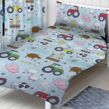 FARM ANIMALS SINGLE DUVET COVER SET BOYS BEDDING TRACTORS HORSE SHEEP