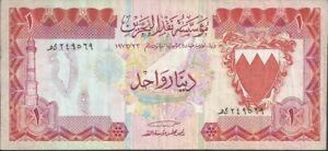 BAHRAIN, P8a 1 Dinar 1973,  F-VF