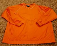 FootJoy FJ Men's Bright Orange Golf Pullover Large